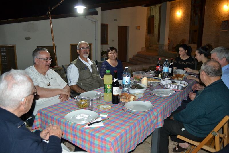 A cena con la famiglia di George